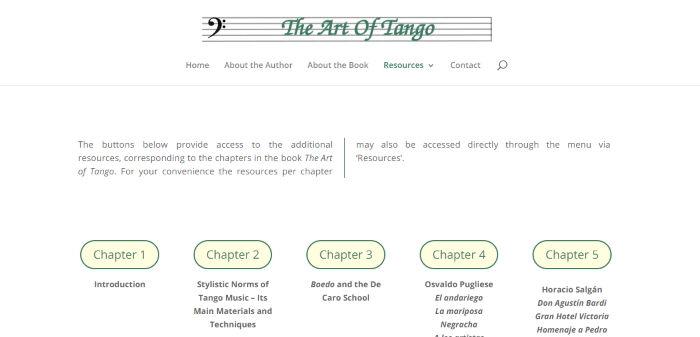 Screenshot van Art of Tango (artoftango.info)